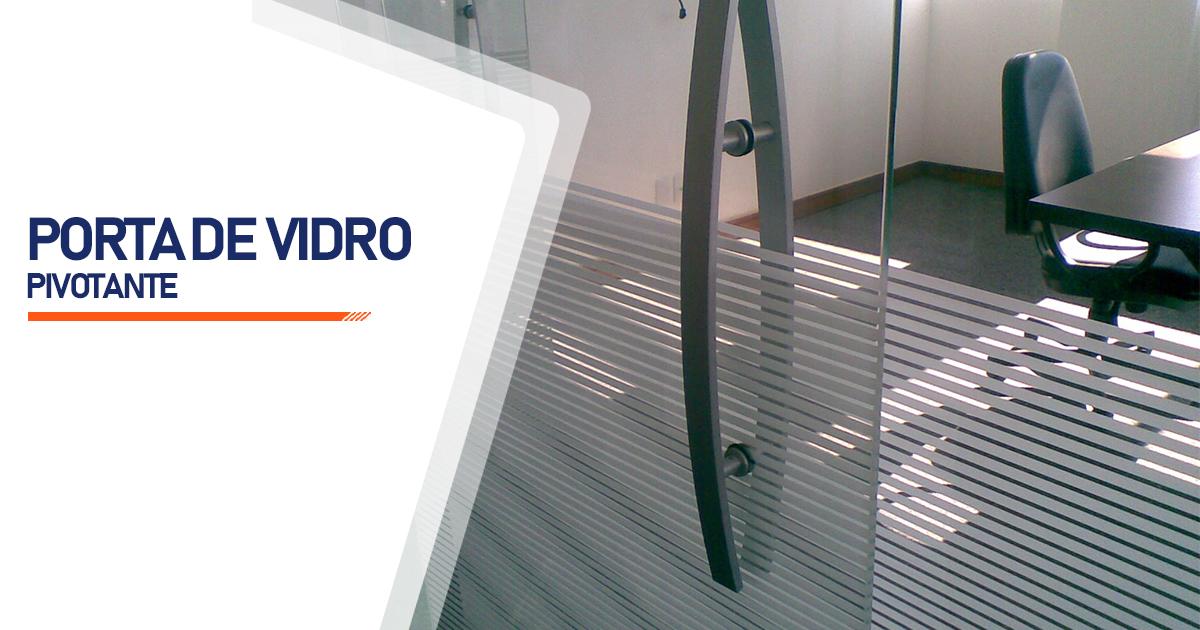 Porta Pivotante De Vidro Osasco