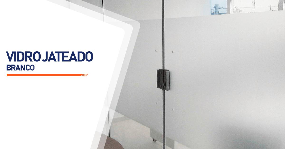 Vidro Jateado Branco Osasco